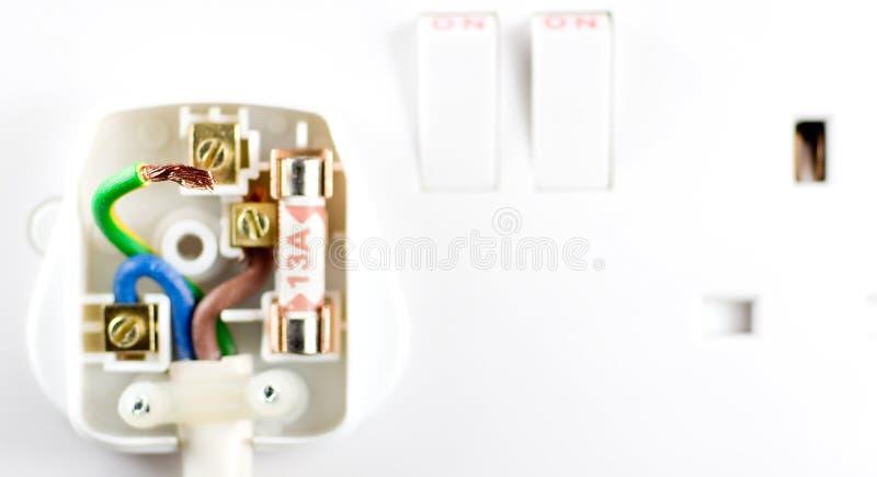 Danger bad electrics royalty free stock image