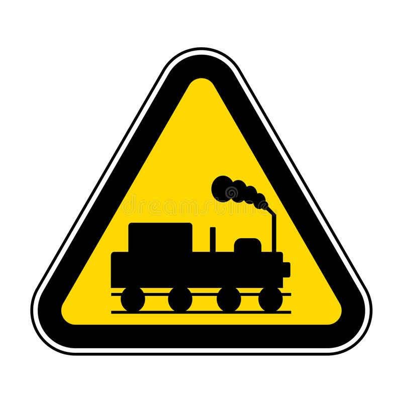 Danger Beware Of Trains Symbol Sign Isolate On White Background,Vector Illustration EPS.10. Safety, railway, transport, traffic, road, warning, transportation vector illustration