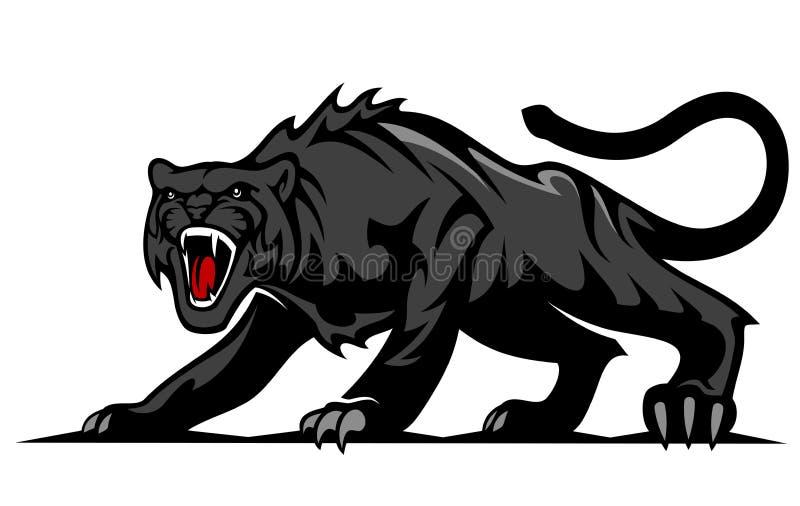 Danger black panther royalty free illustration