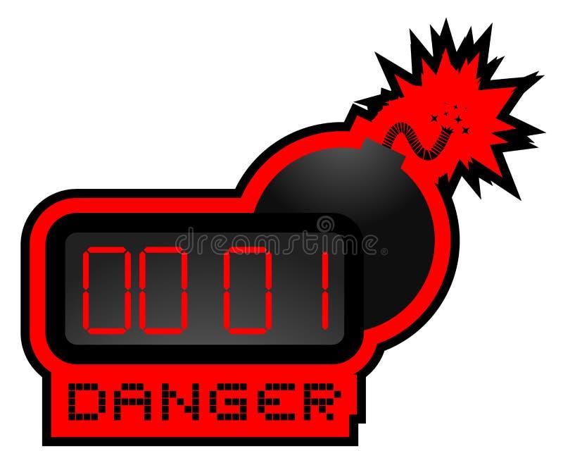 Danger bomb stock illustration