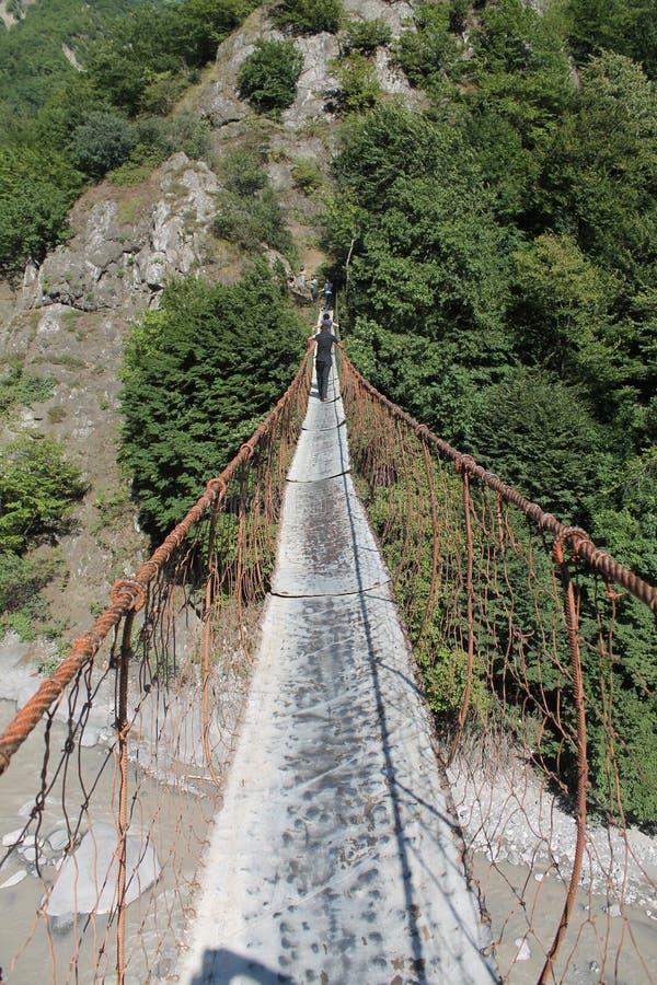 Danger bridge stock photography