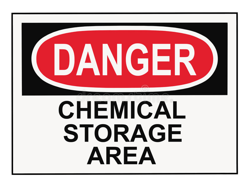 Download Danger Chemical Storage Area Royalty Free Stock Photo - Image: 10200875