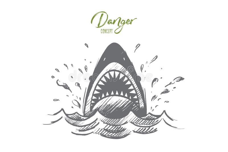 Danger concept. Hand drawn isolated vector. stock illustration