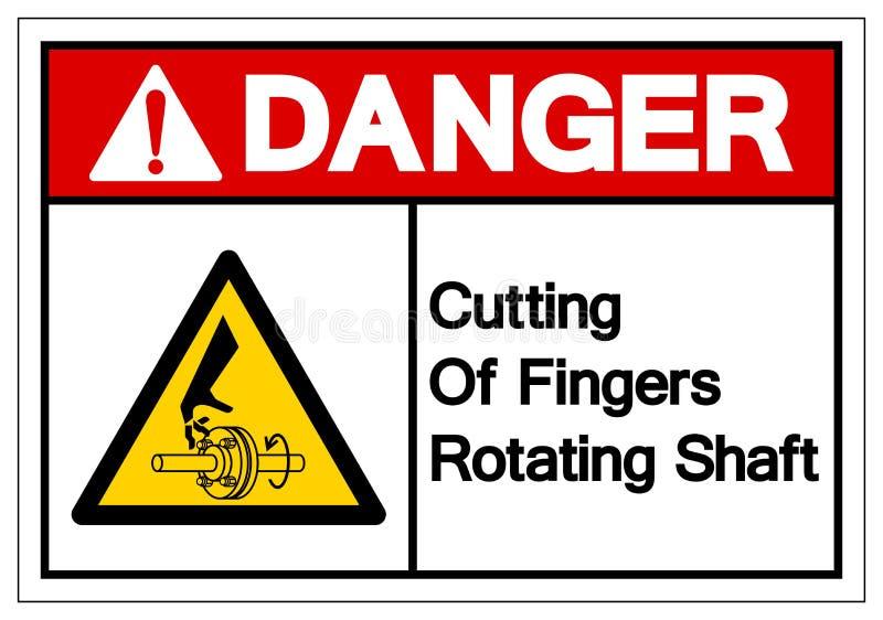 Danger Cutting of Fingers Rotating Shaft Symbol Sign, Vector Illustration, Isolate On White Background Label .EPS10 stock illustration