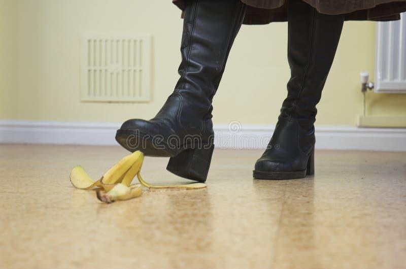 Danger de banane ! photographie stock