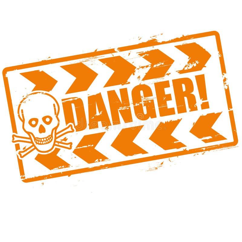Danger de timbre avec un crâne illustration de vecteur