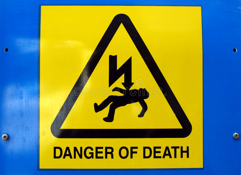 Danger of death Electric shock royalty free stock photo
