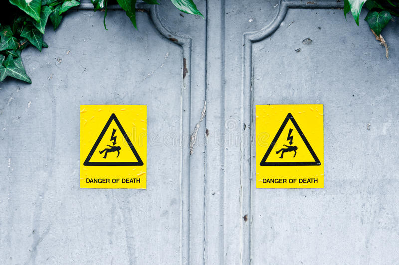 Danger of death royalty free stock image