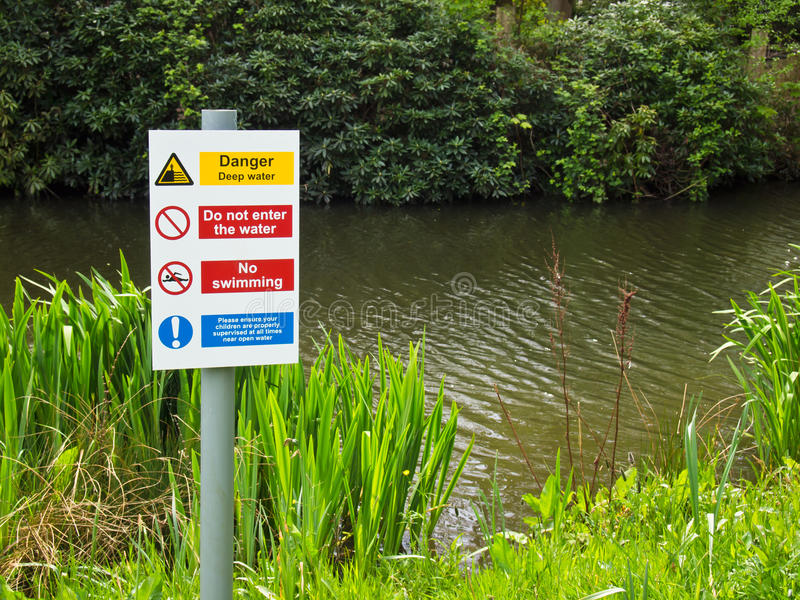 Download Danger Deep Water No Swimming Stock Image - Image: 24865211