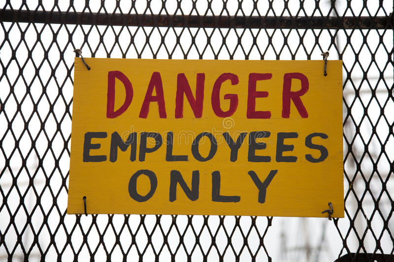 Download Danger Employees Only Stock Images - Image: 19662284