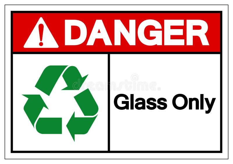 Danger Glass Only Symbol Sign ,Vector Illustration, Isolate On White Background Label .EPS10 vector illustration