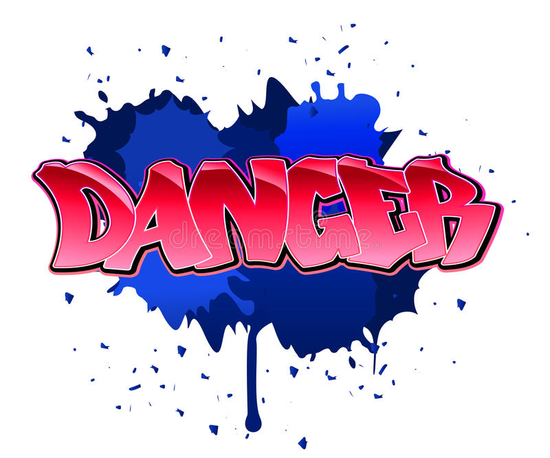 Download Danger graffiti background stock vector. Illustration of contemporary - 17750661