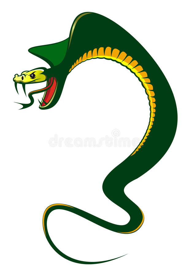 Danger green cobra royalty free stock photography