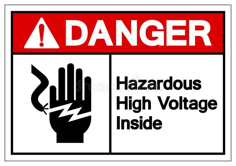 Danger Hazardous High Voltage Inside Symbol Sign, Vector Illustration, Isolate On White Background Label. EPS10 royalty free illustration