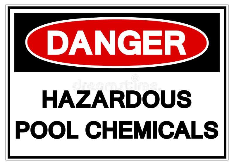 Danger Hazardous Pool Chemicals Symbol Sign, Vector Illustration, Isolate On White Background Label. EPS10 vector illustration