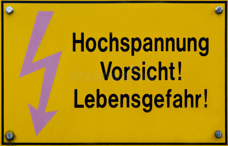 Download Danger - High Voltage stock photo. Image of warning, yellow - 10564382