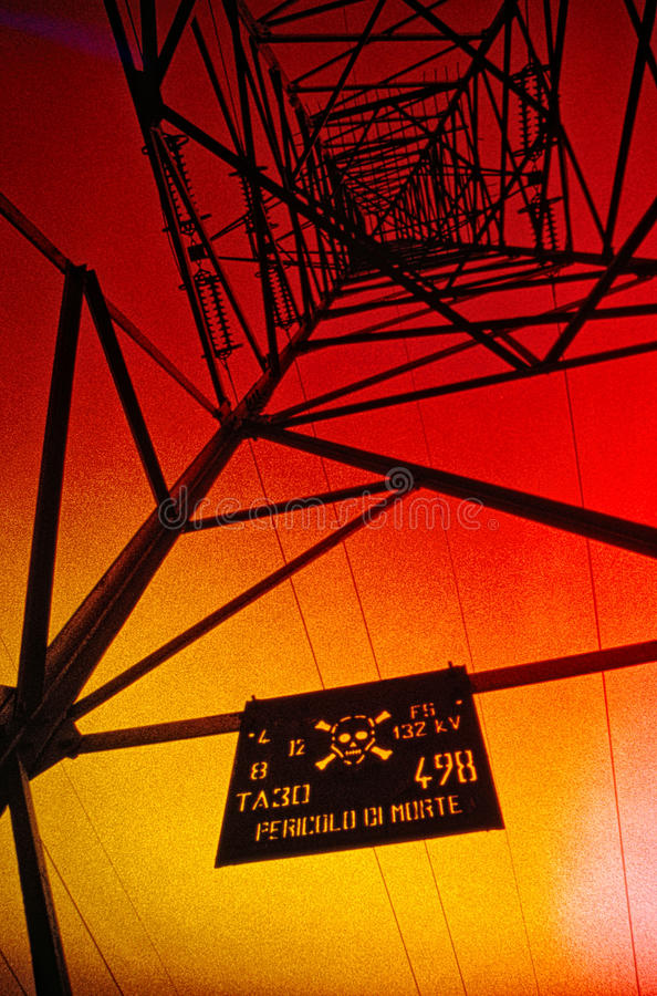 Danger high voltage royalty free stock photography