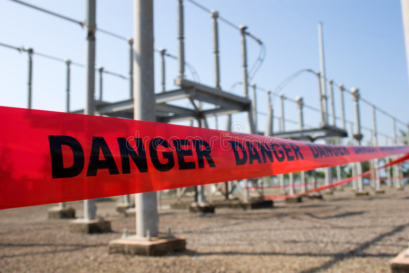 Danger high voltage royalty free stock image