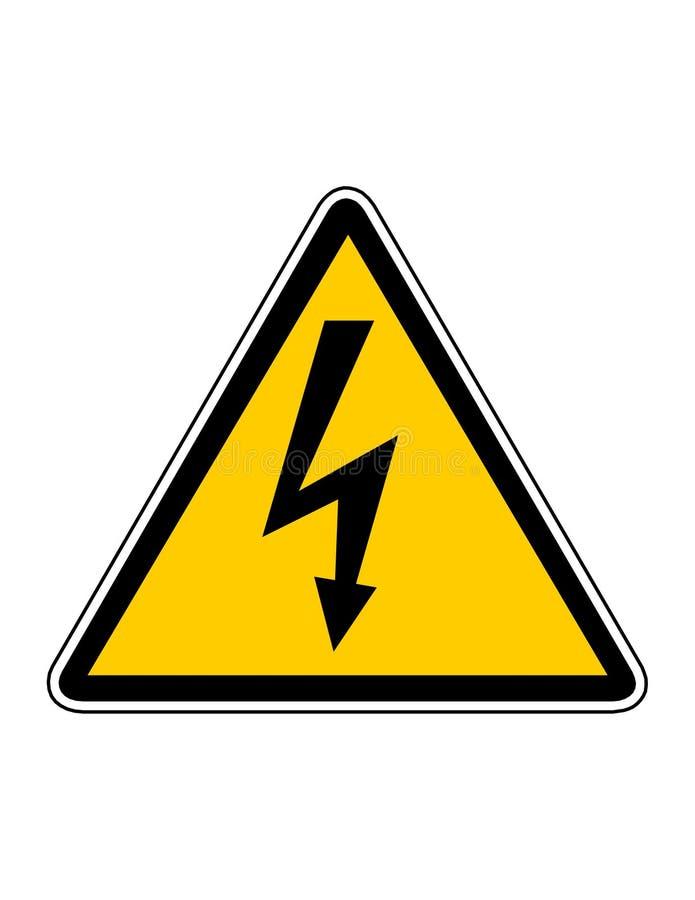 Danger high voltage royalty free illustration