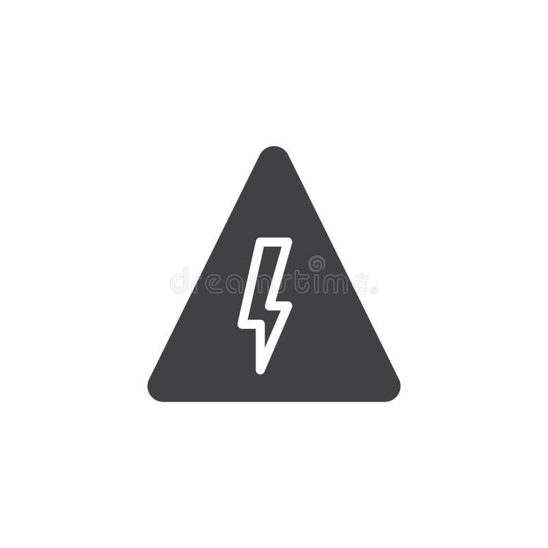 Danger high voltage icon vector stock illustration