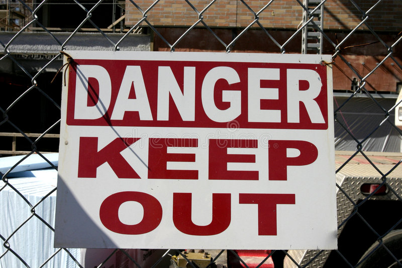 Download Danger Keep Out stock photo. Image of danger, work, customer - 34662
