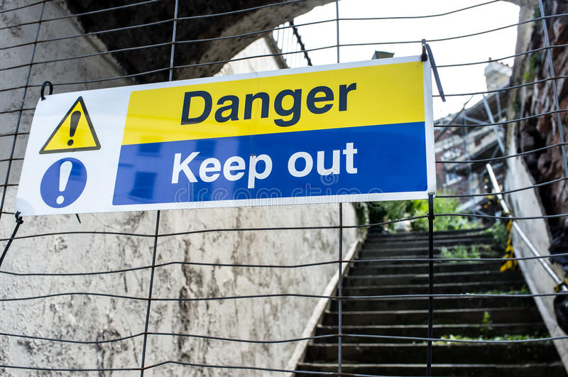 Download Danger Keep Out Sign stock image. Image of warn, building - 33152121