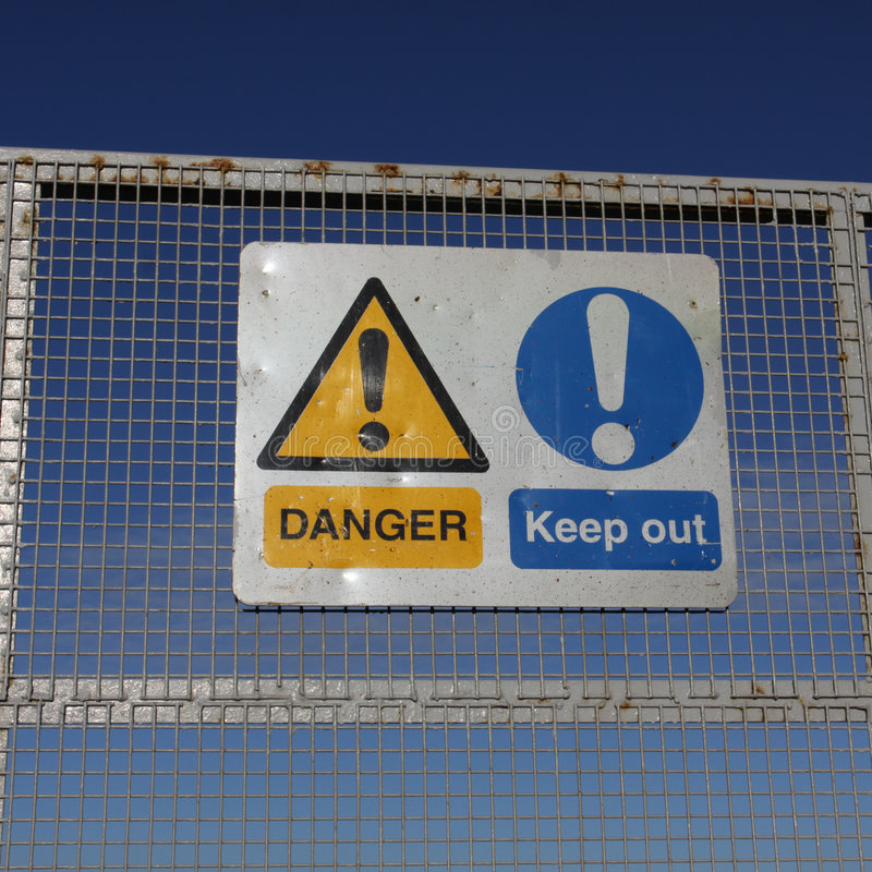 Free Danger Keep Out Signs Royalty Free Stock Photo - 7925545