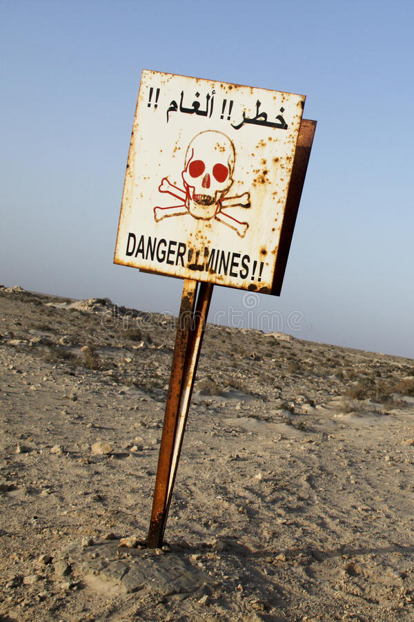 Download Danger Mines sign stock photo. Image of warning, military - 25408212