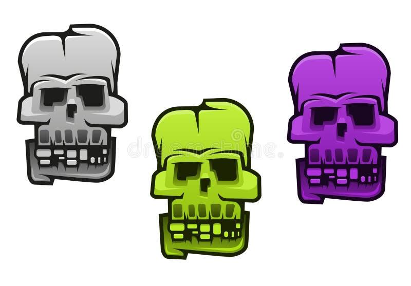 Danger monster or mutant. Skull for halloween design vector illustration
