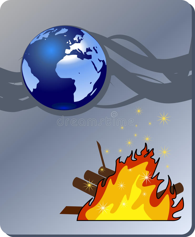 Download Danger Nature - Conflagration, Wildfire Stock Vector - Image: 14687555