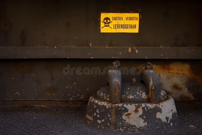 Danger near heavy industry stock photo