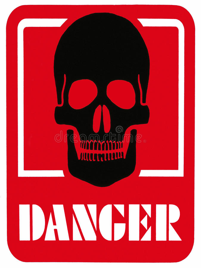Free DANGER OF DEATH - Hazard Warning Sign Royalty Free Stock Photos - 15077848