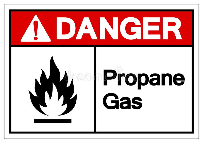 Danger Propane Gas Symbol Sign, Vector Illustration, Isolate On White Background Label. EPS10 vector illustration