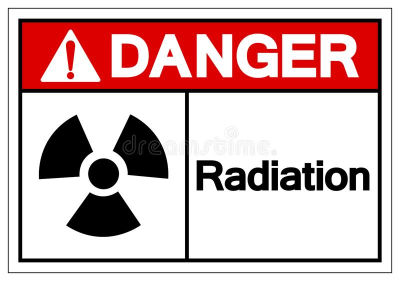 Danger Radiation Symbol Sign, Vector Illustration, Isolate On White Background Label. EPS10 vector illustration