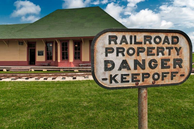 Download Danger - Railroad Property stock image. Image of road - 20607733