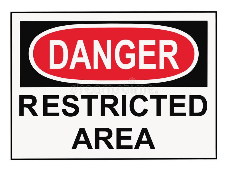 Danger Restricted Area stock photo