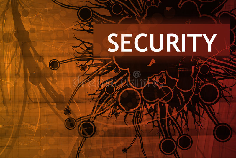 Danger Security Alert stock illustration