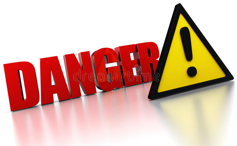 Download Danger sign stock illustration. Image of exclamation - 16345071