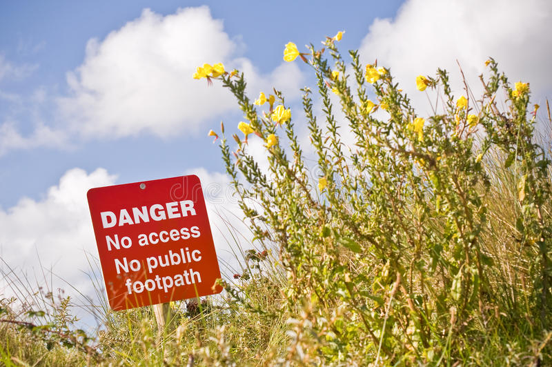 Download Danger sign stock photo. Image of dangerous, clifftop - 21349492