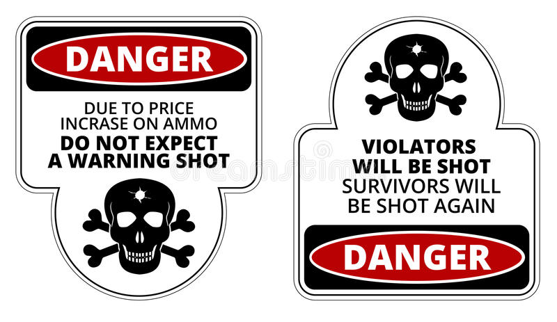 Danger stock illustration