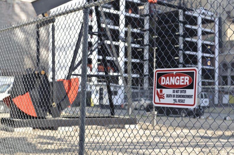 Download Danger Sign On Construction Site Stock Photo - Image of danger, warn: 25962942