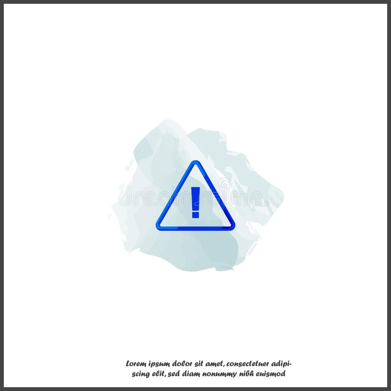 Danger sign flat icon. Vector symbol of attention caution. Exclamation hazard warning attention on white isolated background stock illustration
