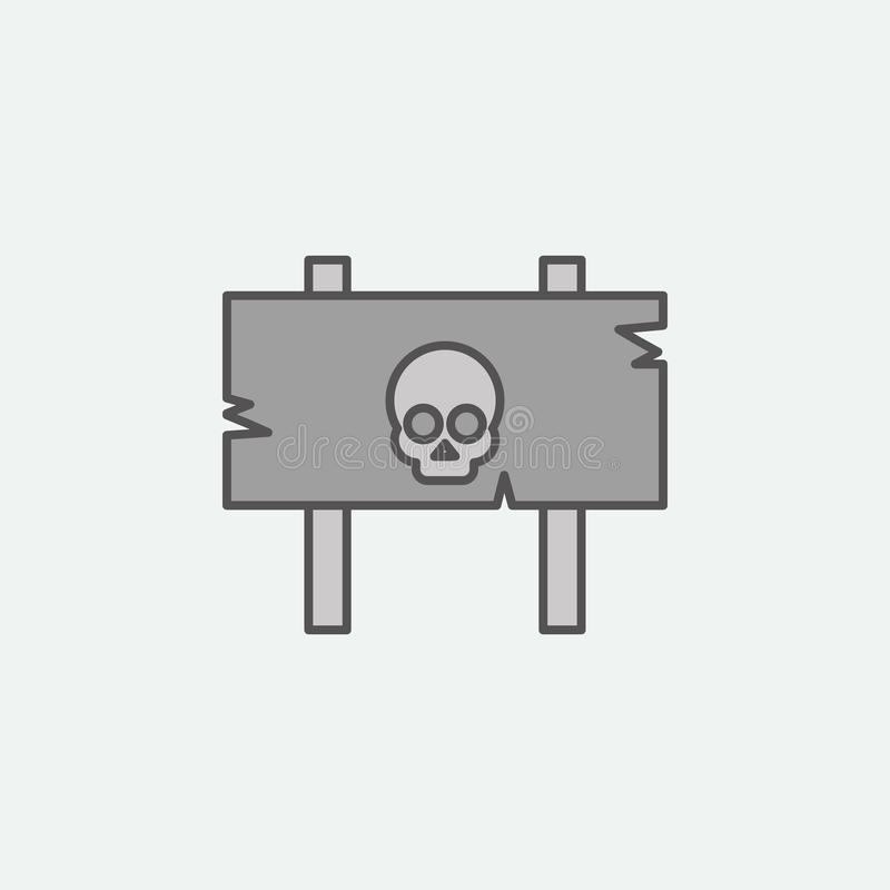 Danger sign for Halloween theme colored icon. One of the Halloween collection icons for websites, web design, mobile app stock illustration