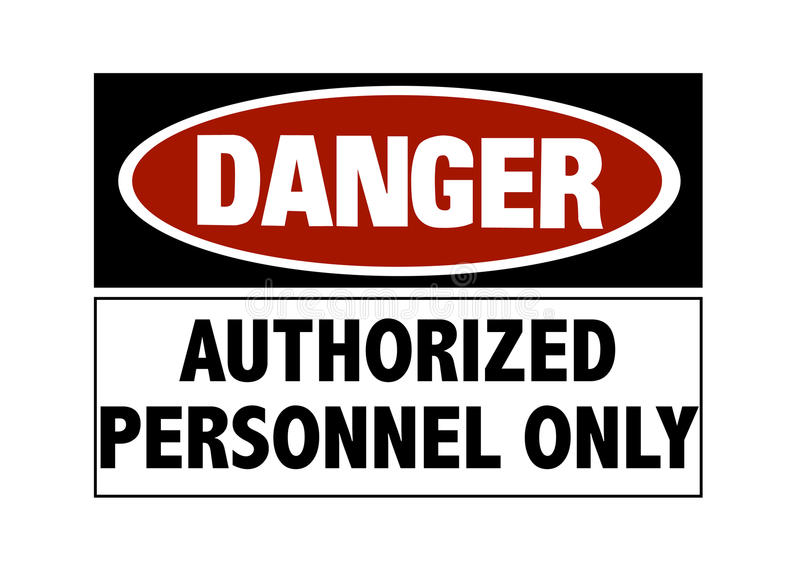 Danger Sign - Hard Hats Royalty Free Stock Image