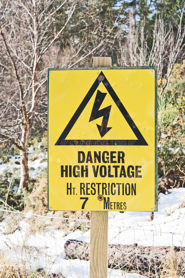 Download Danger Sign For High Vehicles Stock Photo - Image: 24562412