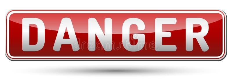 Danger sign royalty free illustration