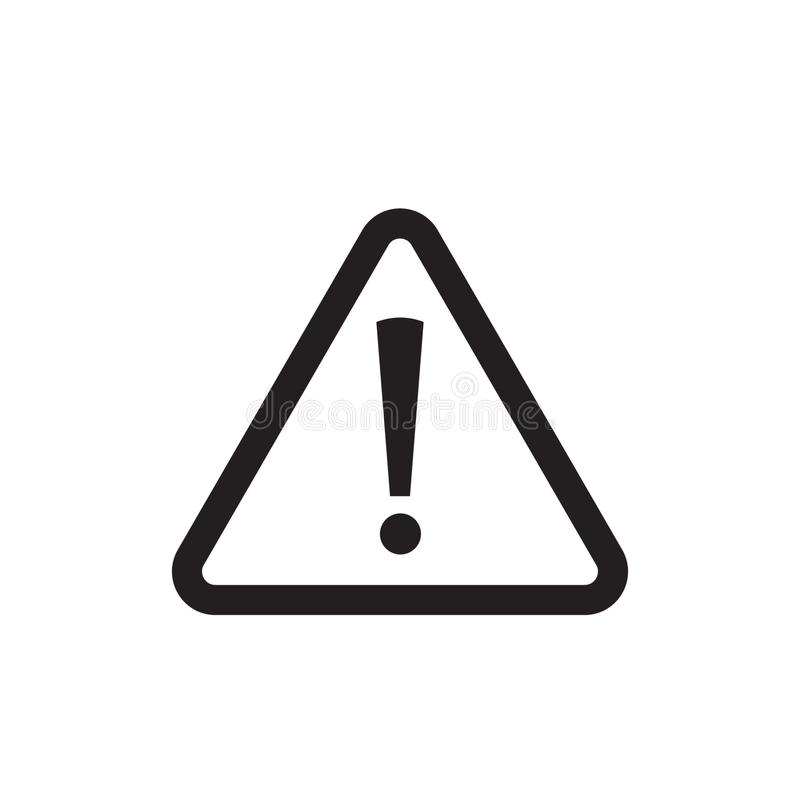 Danger sign vector icon. Attention caution illustration on white background. stock illustration