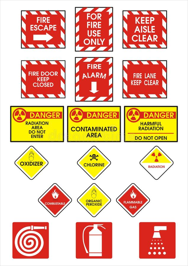 Danger Signs stock photography