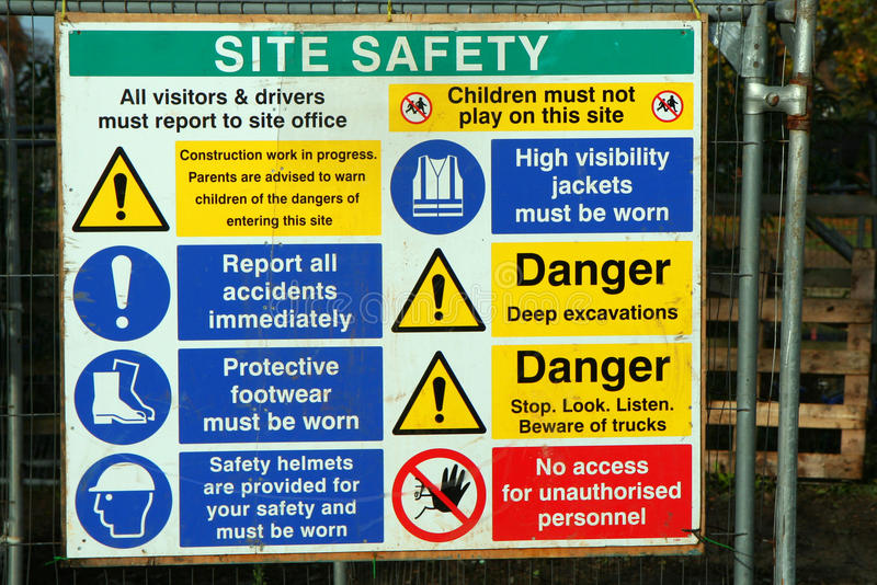 Download Danger Signs Construction Site. Royalty Free Stock Photos - Image: 22145368