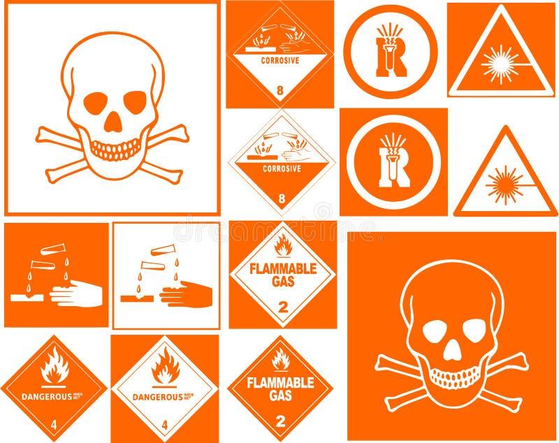 Download Danger symbol collection stock illustration. Illustration of danger - 8406990
